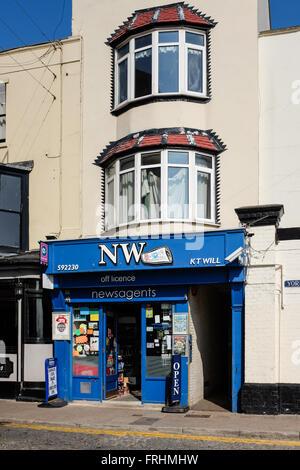 Local Newsagents Shop, Ramsgate, UK - Stock Photo