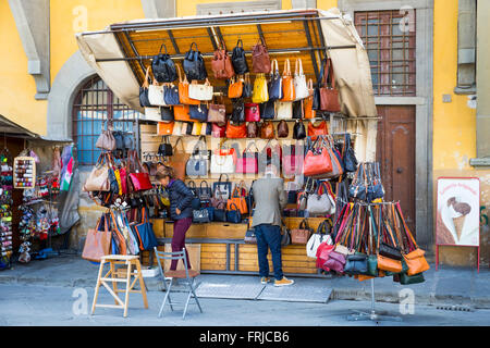 Market Stall, Florence, Italy - Stock Photo