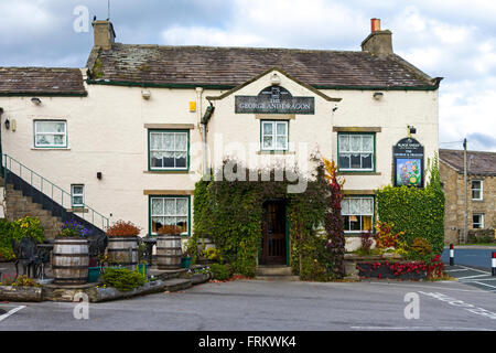 The George and Dragon inn, Aysgarth, Wensleydale, Yorkshire Dales National Park, England, UK - Stock Photo