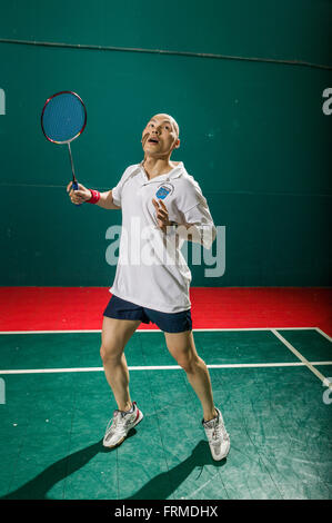 EL MONTE, CA – JULY 21: Badminton Finals in El Monte, California on July 21, 2005. - Stock Photo
