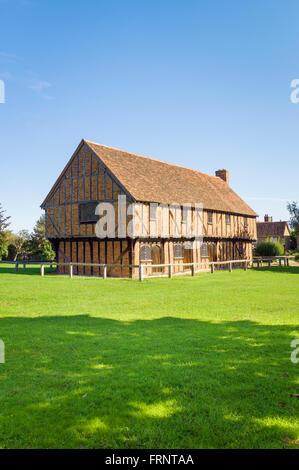 The Moot Hall in Elstow birth village of John Bunyan Bedfordshire UK - Stock Photo