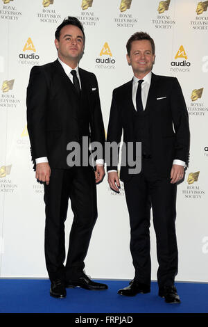 London, UK. 22nd Mar, 2016. Ant & Dec  attending the Royal Television Society Programme Awards at   the Grosvenor - Stock Photo
