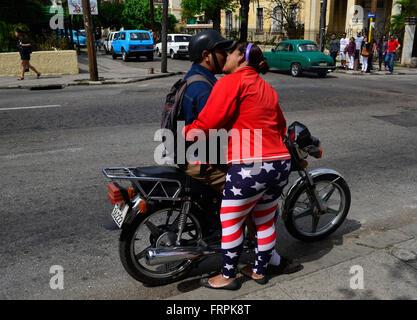 Havana, Cuba. 22nd Mar, 2016. Street snapshot taken in Havana's quarter Vedado, Cuba, on March 22, 2016. (CTK Photo) - Stock Photo