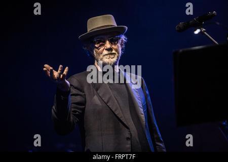 Milan, Italy. 23rd Mar, 2016. Francesco De Gregori performs live at Alcatraz in Milano, Italy, on March 23 2016 - Stock Photo