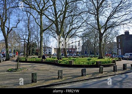 Pond Square in Spring, Highgate Village London England Britain UK - Stock Photo
