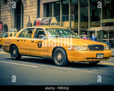 Taxi, New York City, USA - Stock Photo