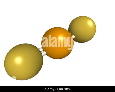 Chemical structure of selenium disulfide, a dandruff shampoo active ingredient, chemical structure. Selenium sulfide - Stock Photo