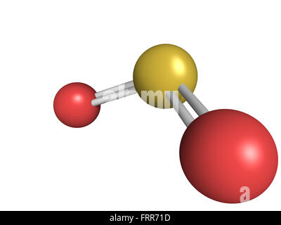 Chemical Structure Of Sulfur Dioxide Sulphur Dioxide So2 Gas