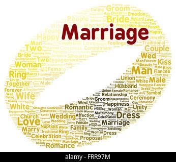 Love Word Cloud Concept Marriage Shape