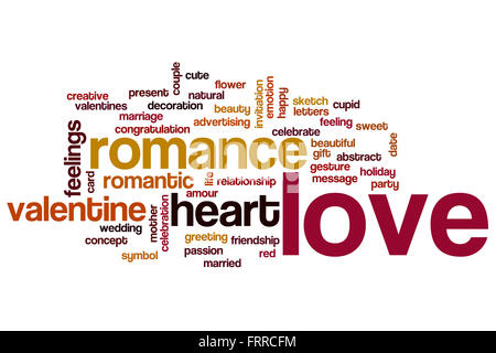 Love concept word cloud background - Stock Photo