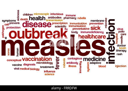 Measles word cloud concept - Stock Photo