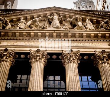 New York Stock Exchange, Wall Street, New York City, USA. - Stock Photo