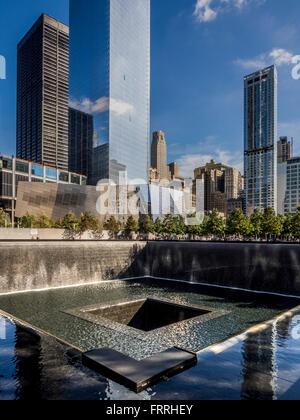 9/11 memorial, New York, USA - Stock Photo