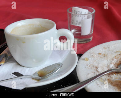espresso coffee cup on table - Stock Photo