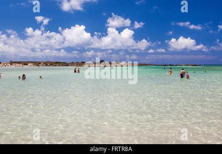 Elafonissi beach, Crete, Greece - Stock Photo