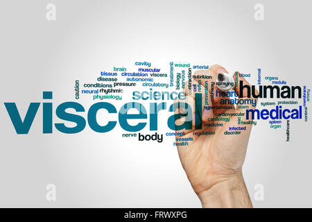 Visceral concept word cloud background - Stock Photo