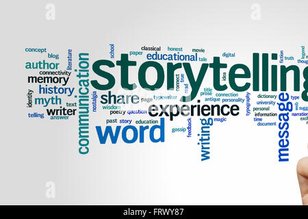 Storytelling concept word cloud background - Stock Photo
