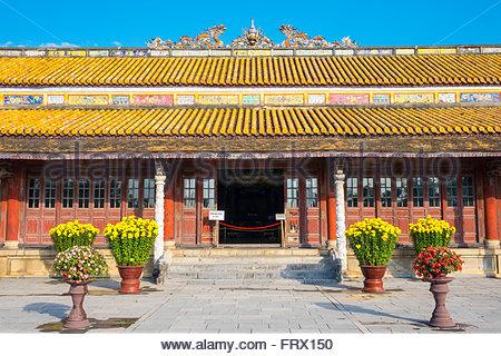 Thai Hoa Palace (Hall of Supreme Harmony), Imperial City of Hue, Thua Thien-Hue Province, Vietnam - Stock Photo
