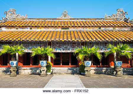 Hung Mieu Temple inside the To Mieu Temple Complex, Imperial City of Hue, Thua Thien-Hue Province, Vietnam - Stock Photo