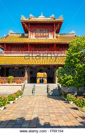Hien Lam Pavilion in the To Mieu Temple Complex, Imperial City of Hue, Thua Thien-Hue Province, Vietnam - Stock Photo