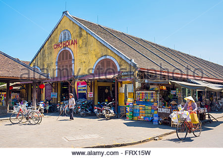 Hoi An central market (Cho Hoi An), Hoi An, Quang Nam Province, Vietnam - Stock Photo