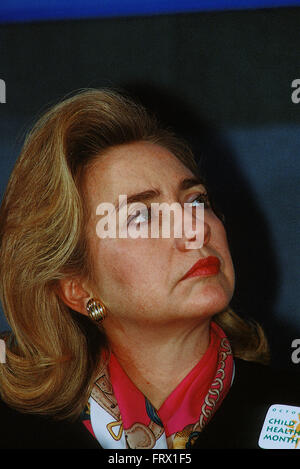 Washington, DC., USA, 27th September,  1995 Hillary Rodham Clinton at the National Press Club. Credit: Mark Reinstein - Stock Photo