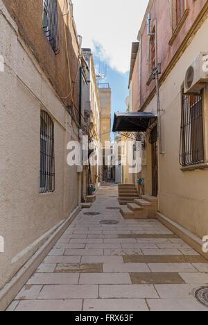 The old fortress Street.Baku.Azerbaijan. - Stock Photo
