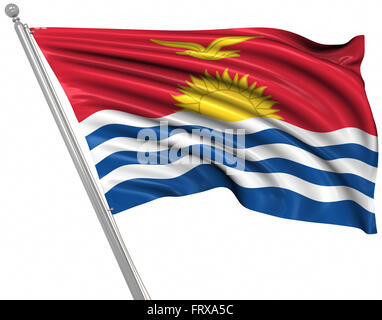 Flag of Kiribati , This is a computer generated and 3d rendered image. - Stock Photo