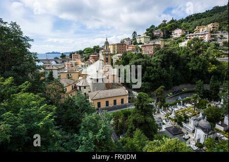 Zoagli, province of Genua, Italian Riviera, Liguria, Italy - Stock Photo