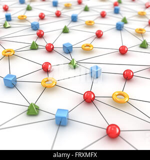 Network Concept with Shape - Stock Photo