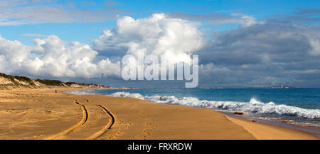 Storm clouds over Buffalo Beach near Bunbury Western Australia on a late afternoon in mid winter. - Stock Photo