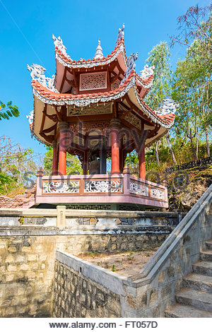 Small pagoda at Chua Long Son buddhist temple, Nha Trang, Khanh Hoa Province, Vietnam - Stock Photo