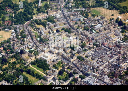 Aerial view of Oxford - Stock Photo