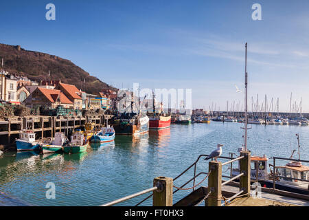 Scarborough Harbour, North Yorkshire, England, UK - Stock Photo