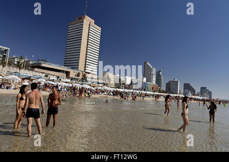 Beach Life, The beaches of Tel-Aviv, Israel, Asia - Stock Photo