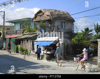 Main Street in Basco, Batanes Island, Philippines, Asia - Stock Photo