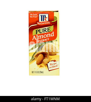 SPENCER , WISCONSIN- JANRUARY 29, 2014 : box of McCormick Almond Extract. McCormick manufactures spces, herbs and - Stock Photo