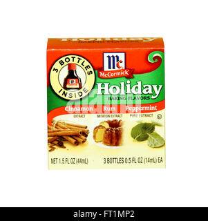 SPENCER , WISCONSIN- JANRUARY 29, 2014 : box of McCormick Holiday Baking Flavors. McCormick manufactures spces, - Stock Photo