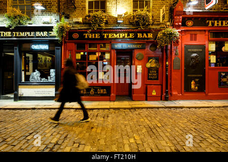 The Temple Bar pub in Dublin, Republic of Ireland, Europe - Stock Photo