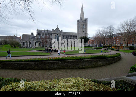 Saint Patrick's Cathedral in Dublin, Republic of Ireland, Europe - Stock Photo