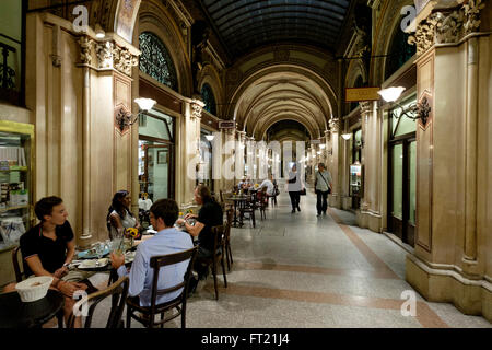 Beaulieu Épicerie fine & Bistrot at Ferstel-Passage Palace in Vienna, Austria, Europe - Stock Photo