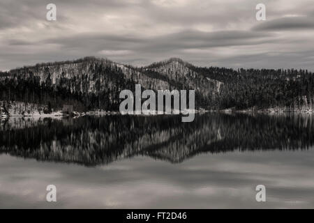 Lokve Lake in Gorski Kotar, Croatia - Stock Photo