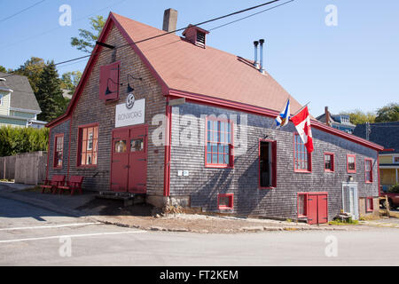 Ironworks is a micro-distillery located in the old port of Lunenburg on Nova Scotia's historic South Shore - Stock Photo