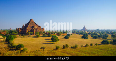 Dhammayangyi temple at sunrise, The biggest Temple in Bagan (Pagan), Myanmar - Stock Photo