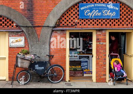 Brighton Fishing Museum Coffee Shop, Brighton, Sussex, UK - Stock Photo