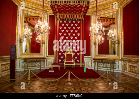 Indoors of The Royal Castle in Warsaw, Poland - Stock Photo