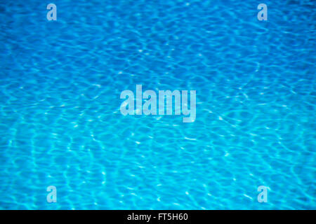 Clear transparent pool water background. Filtered blur shot - Stock Photo