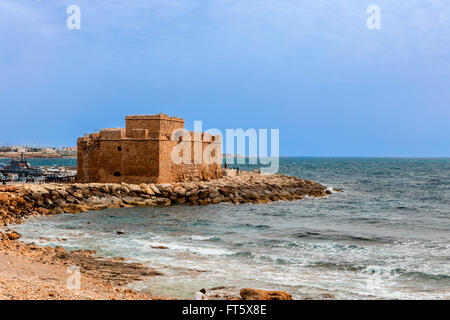 Medieval Castle in Paphos, Cyprus. - Stock Photo