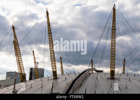 People Climbing The O2 Arena Dome Roof Greenwich London