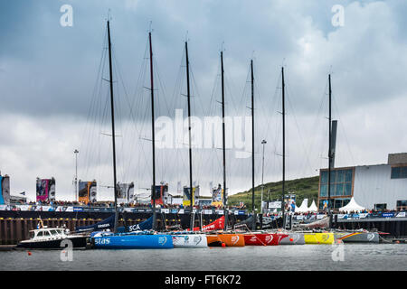 Volvo Ocean Race Stopover Festival in Scheveningen, The Hague, Netherlands - 19th June 2015 (VOR 2014-2015) - Stock Photo